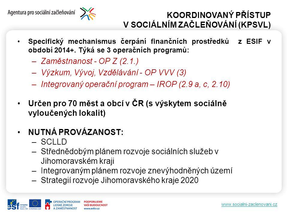 KOORDINOVANÝ PŘÍSTUP V SOCIÁLNÍM ZAČLEŇOVÁNÍ (KPSVL)