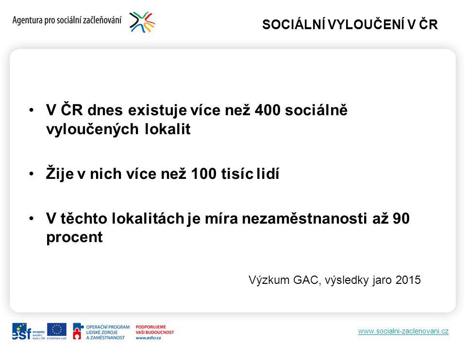 SOCIÁLNÍ VYLOUČENÍ V ČR