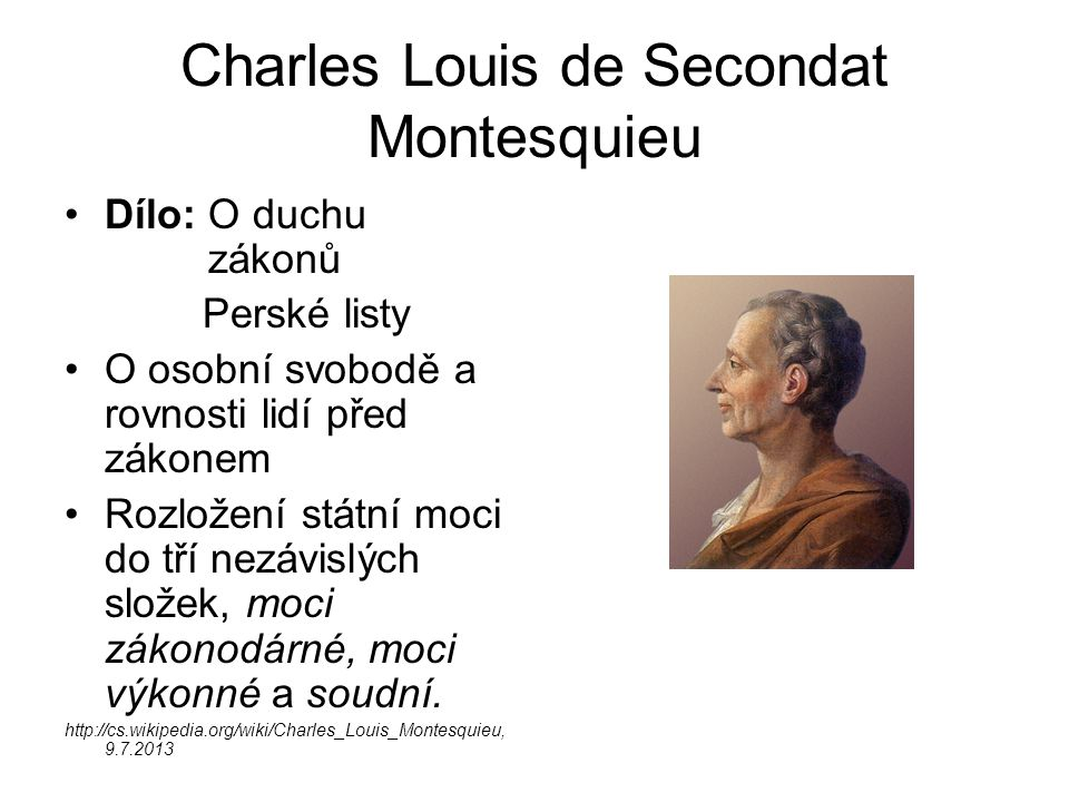 Charles Louis de Secondat Montesquieu