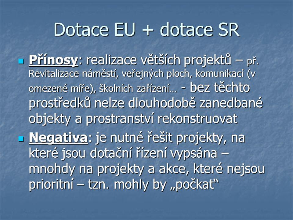 Dotace EU + dotace SR