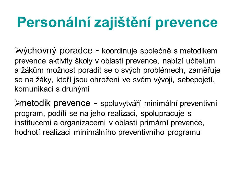 Personální zajištění prevence