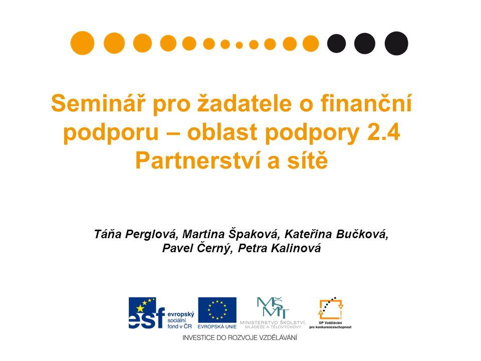 Seminář pro žadatele o finanční podporu – oblast podpory 2
