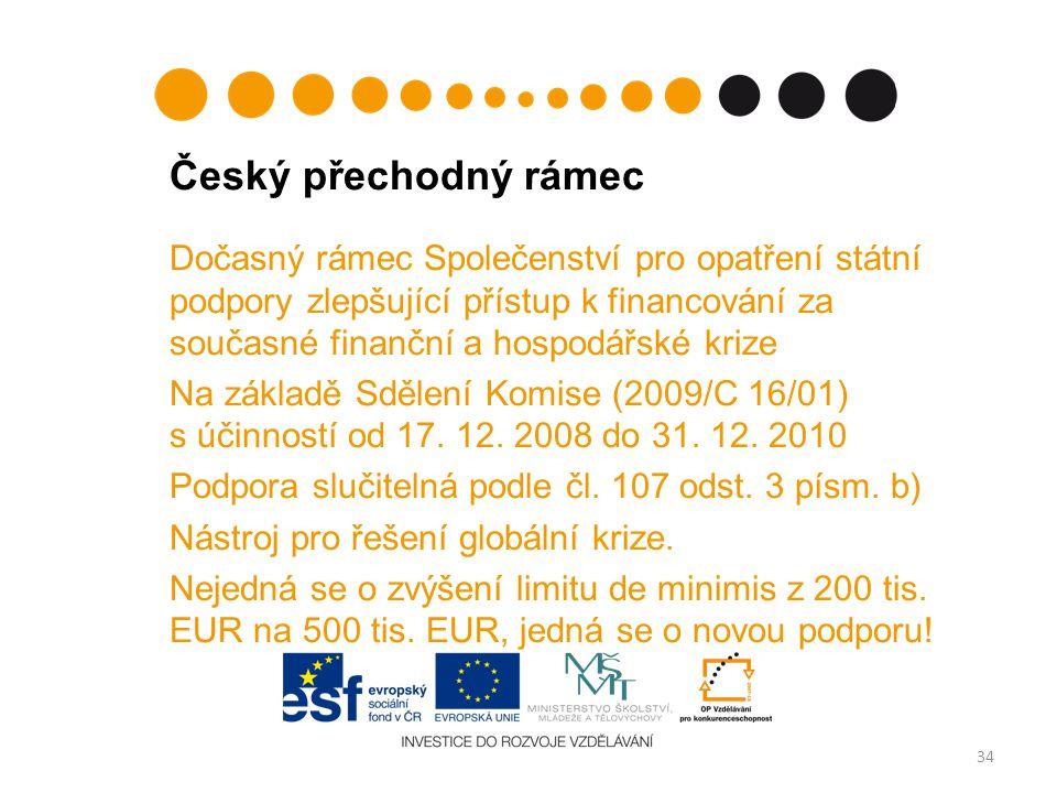 Český přechodný rámec