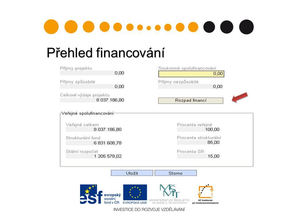 Přehled financování