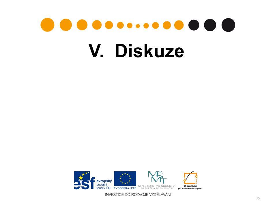 V. Diskuze