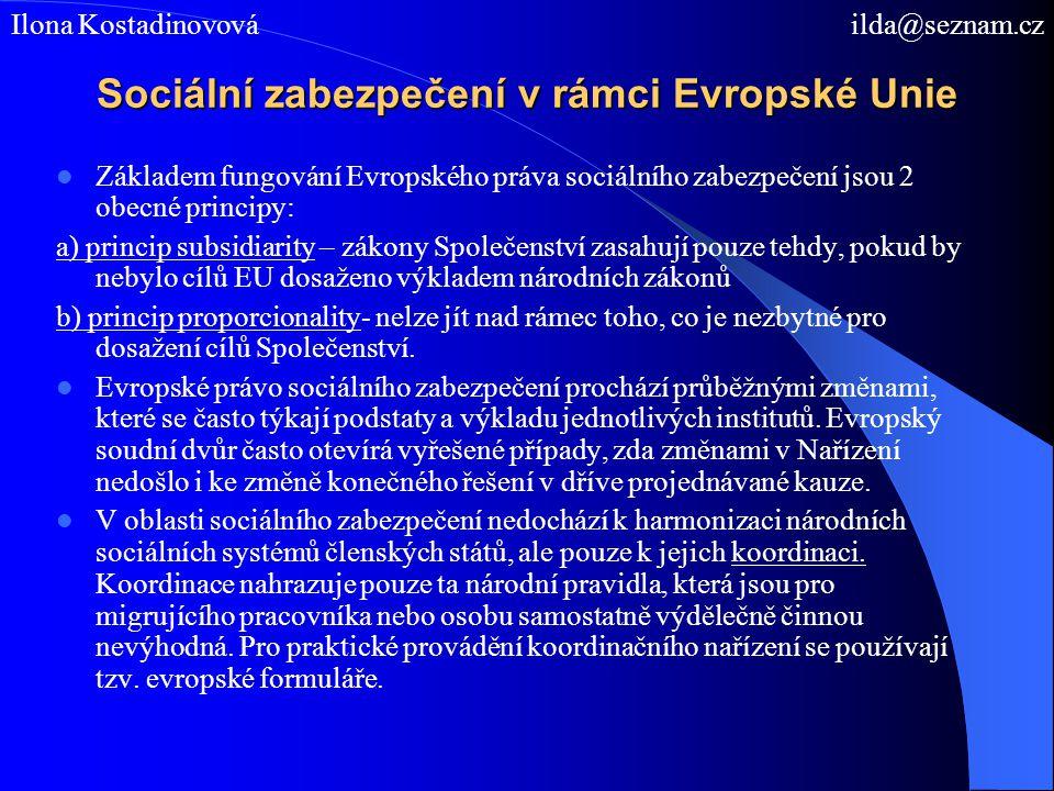 Sociální zabezpečení v rámci Evropské Unie
