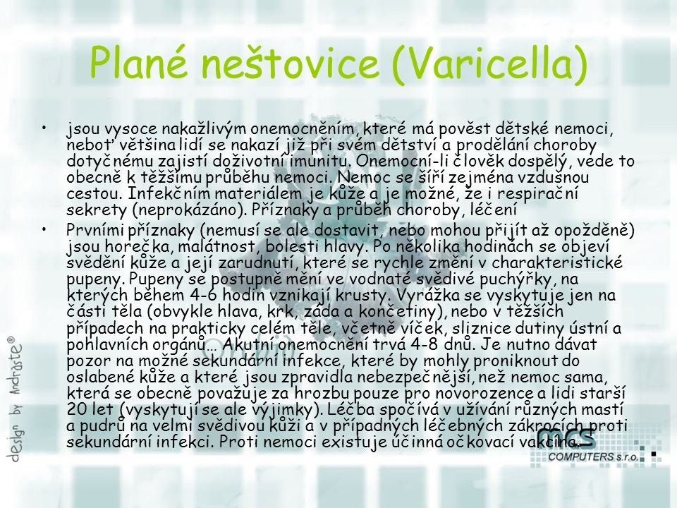 Plané neštovice (Varicella)