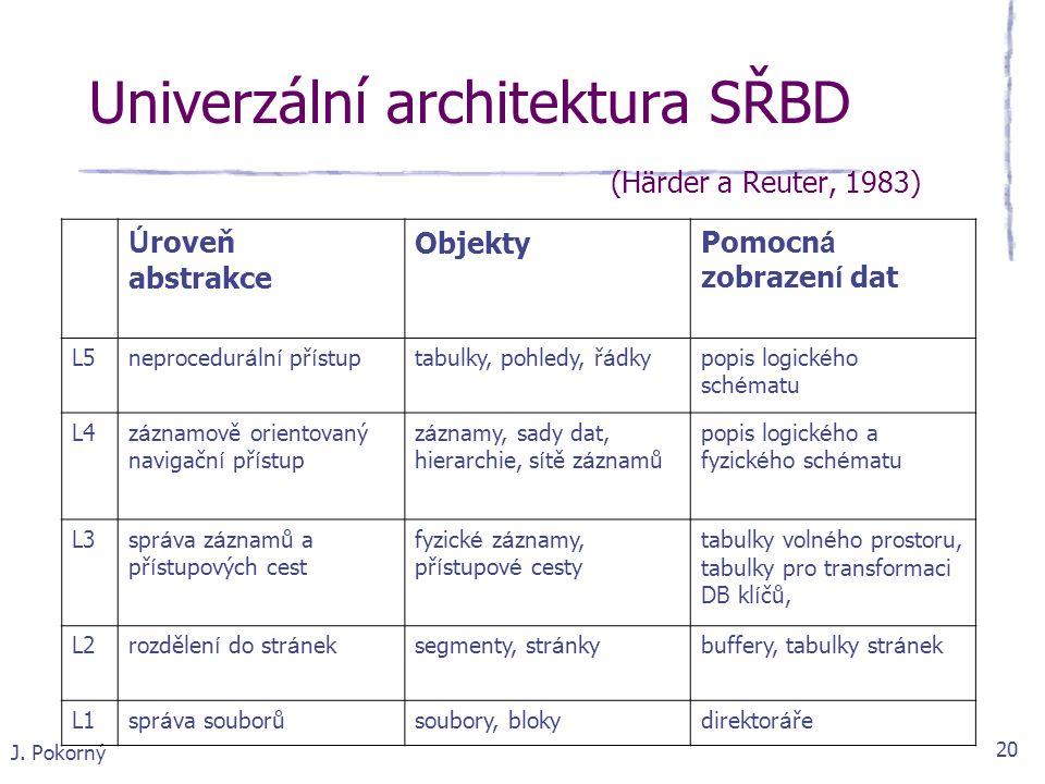 Univerzální architektura SŘBD (Härder a Reuter, 1983)