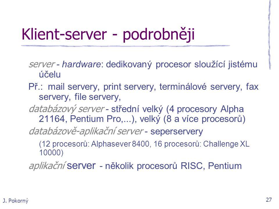 Klient-server - podrobněji