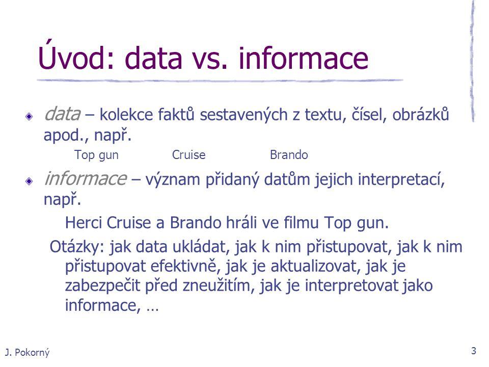 Úvod: data vs. informace