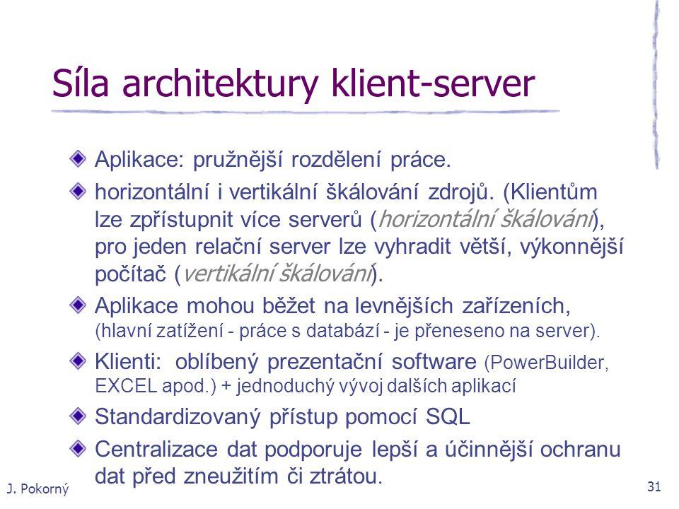 Síla architektury klient-server