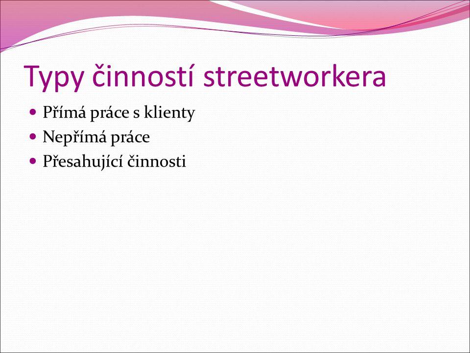 Typy činností streetworkera