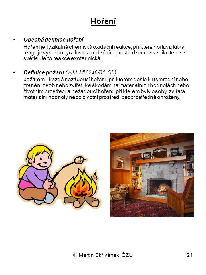 Hoření Obecná definice hoření