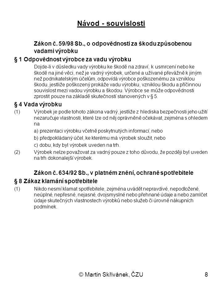 Zákon č. 59/98 Sb., o odpovědnosti za škodu způsobenou vadami výrobku