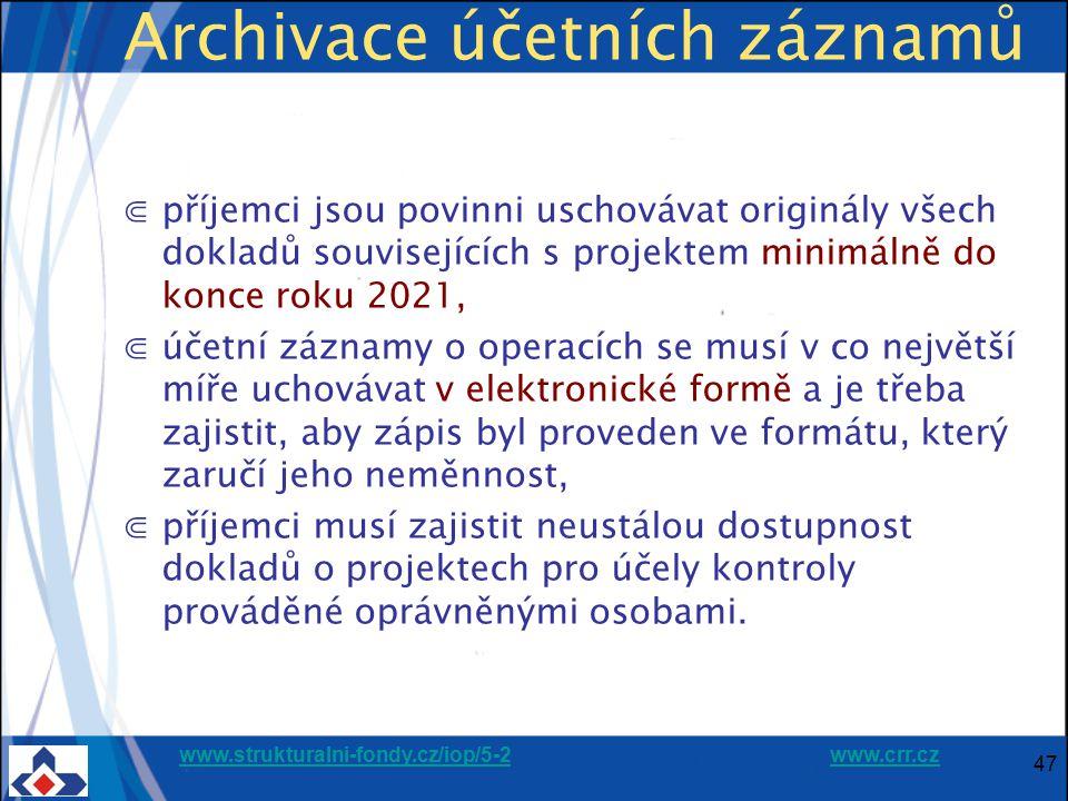 Archivace účetních záznamů
