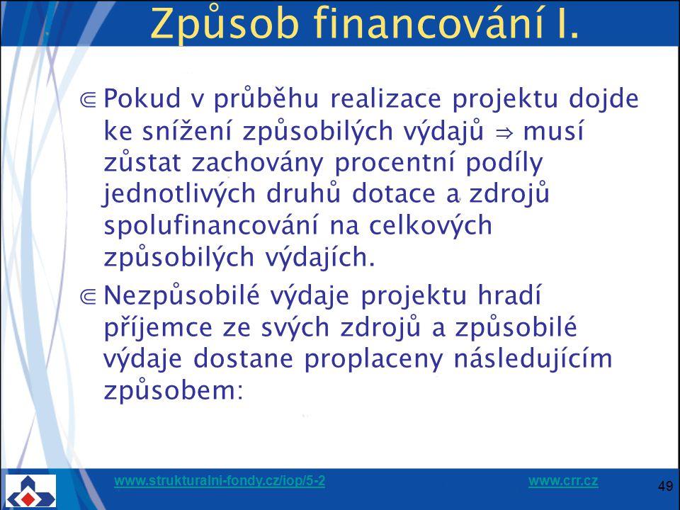 Způsob financování I.