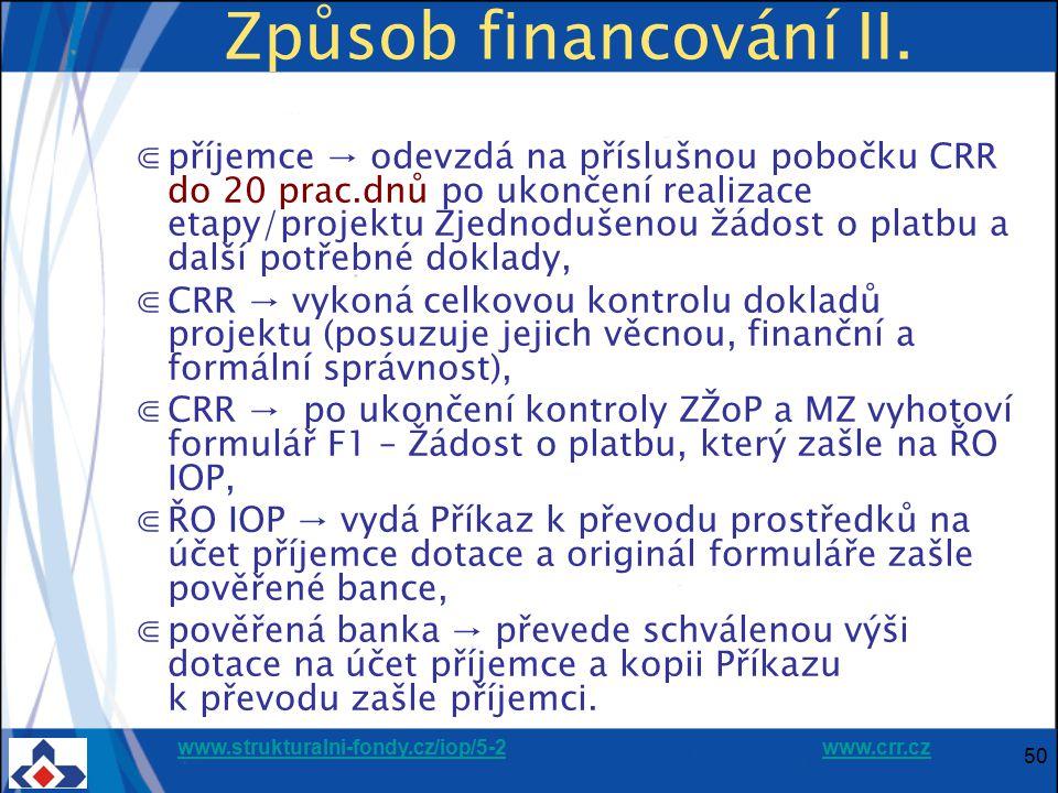 Způsob financování II.