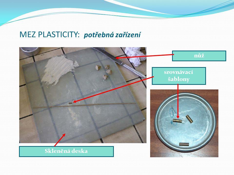 MEZ PLASTICITY: potřebná zařízení