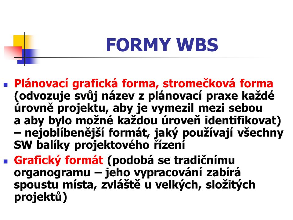 FORMY WBS