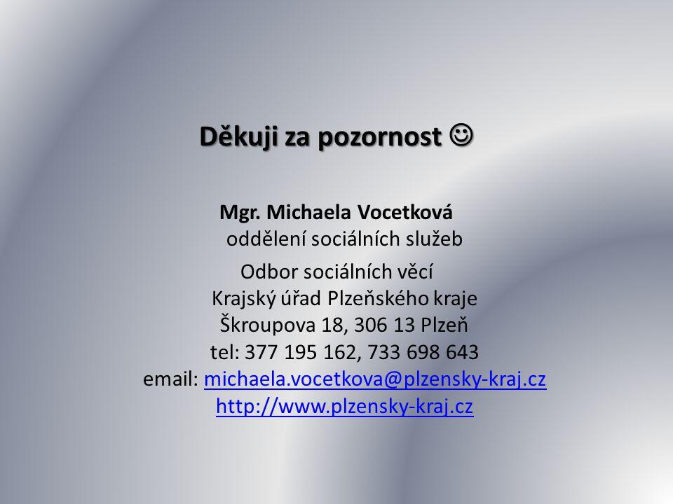 Mgr. Michaela Vocetková oddělení sociálních služeb