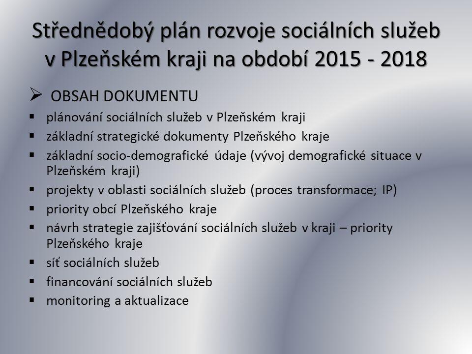 Střednědobý plán rozvoje sociálních služeb v Plzeňském kraji na období 2015 - 2018