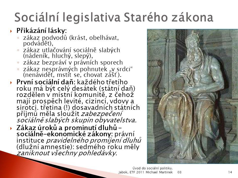 Sociální legislativa Starého zákona