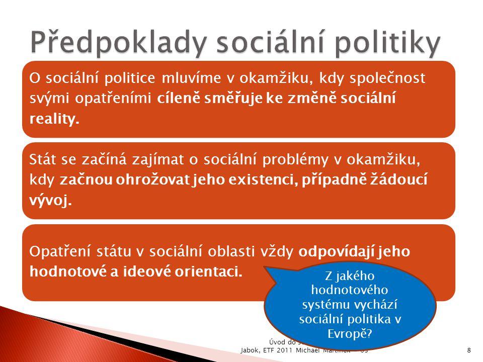 Předpoklady sociální politiky