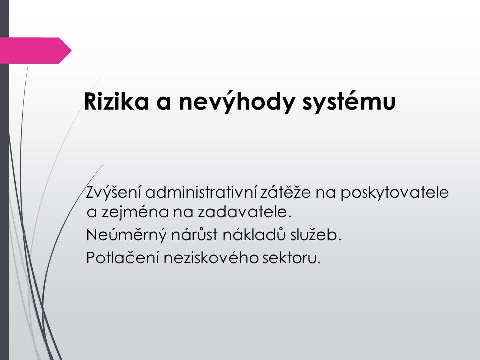 Rizika a nevýhody systému