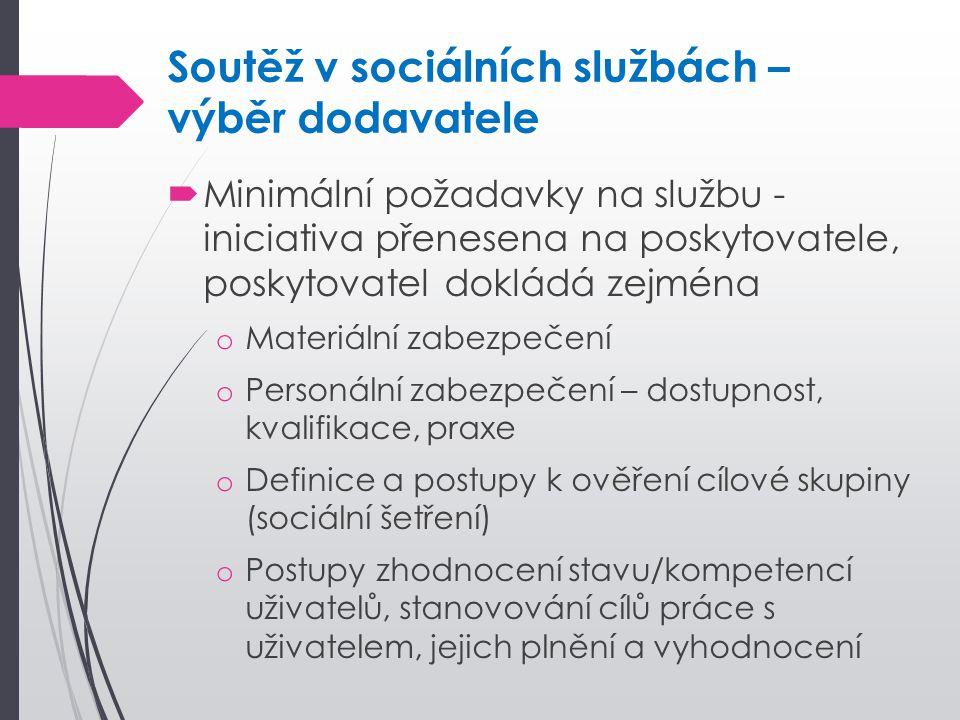 Soutěž v sociálních službách – výběr dodavatele