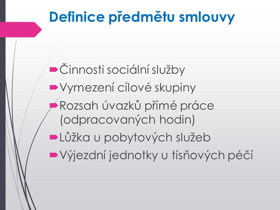 Definice předmětu smlouvy