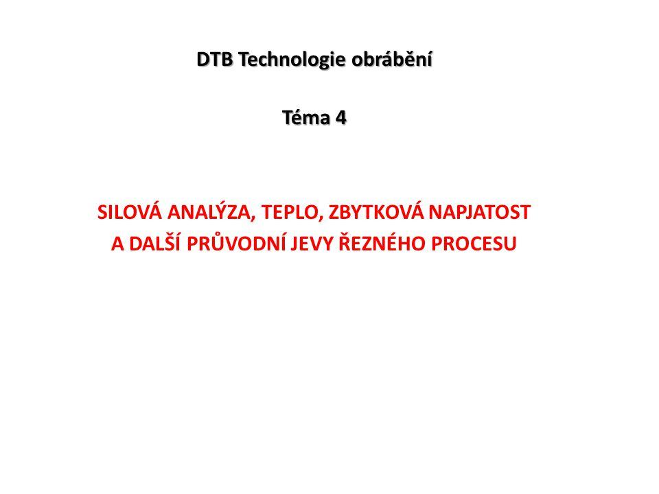DTB Technologie obrábění Téma 4