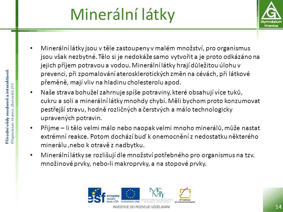 Minerální látky