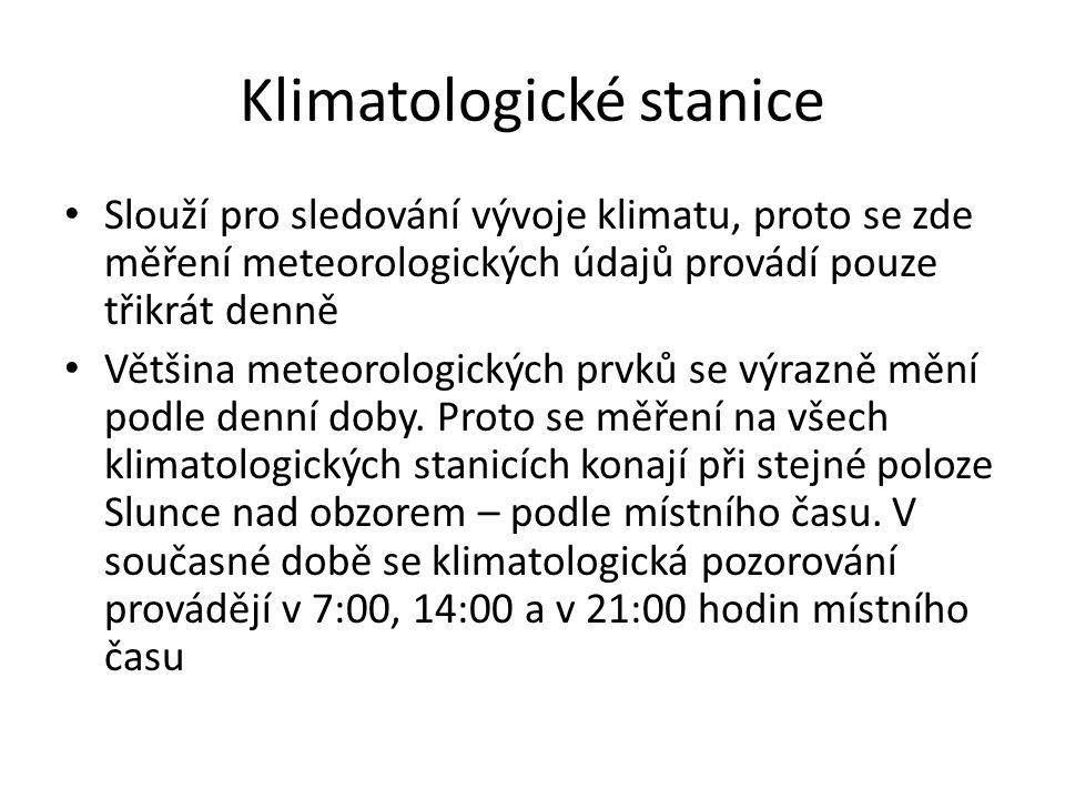 Klimatologické stanice