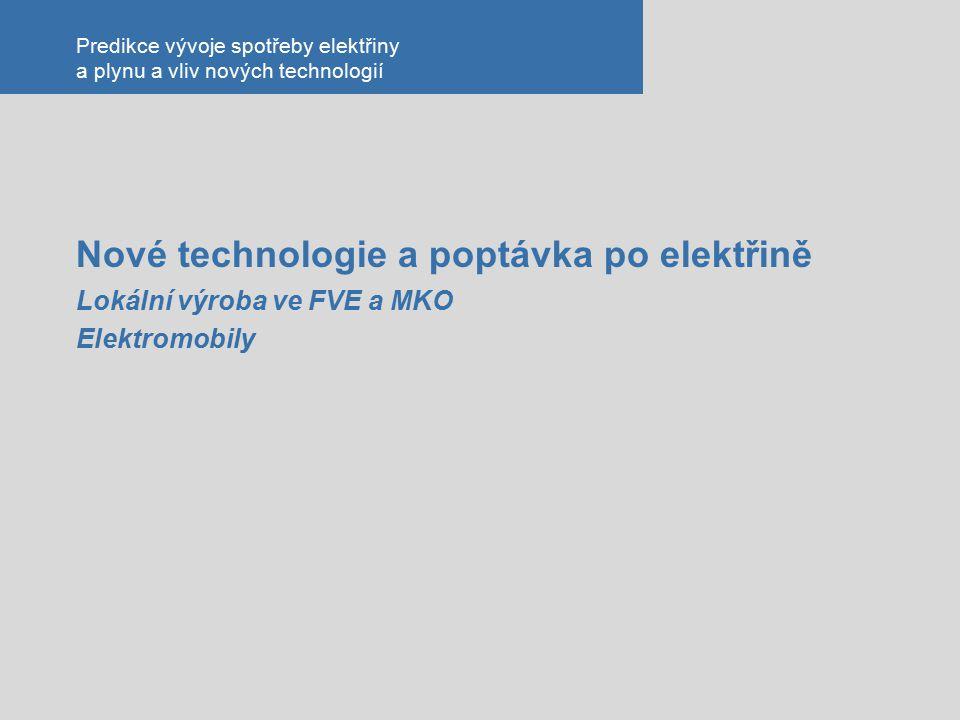 Predikce vývoje spotřeby elektřiny a plynu a vliv nových technologií