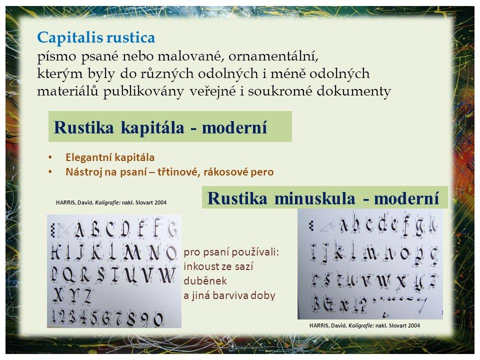 Rustika kapitála - moderní