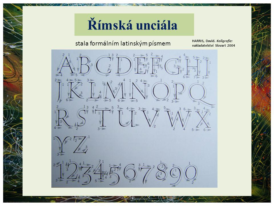 Římská unciála stala formálním latinským písmem