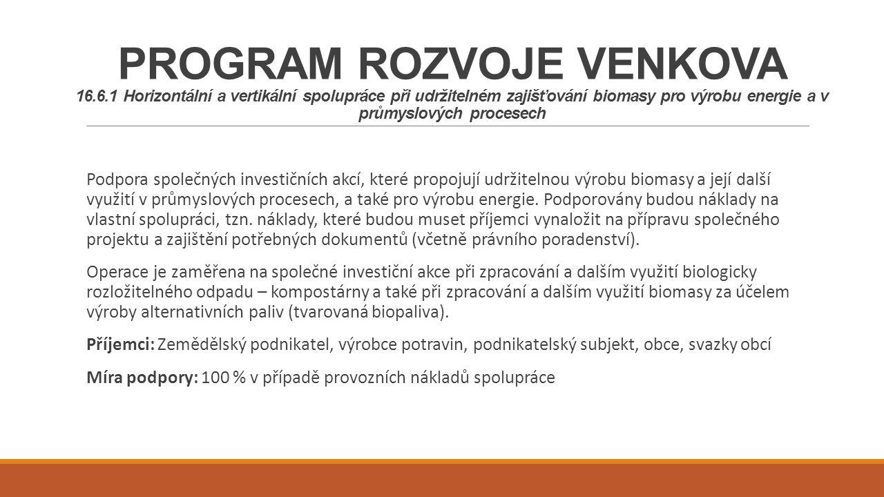 PROGRAM ROZVOJE VENKOVA 16. 6