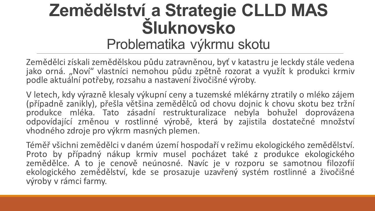 Zemědělství a Strategie CLLD MAS Šluknovsko Problematika výkrmu skotu