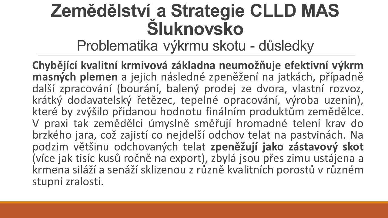 Zemědělství a Strategie CLLD MAS Šluknovsko Problematika výkrmu skotu - důsledky
