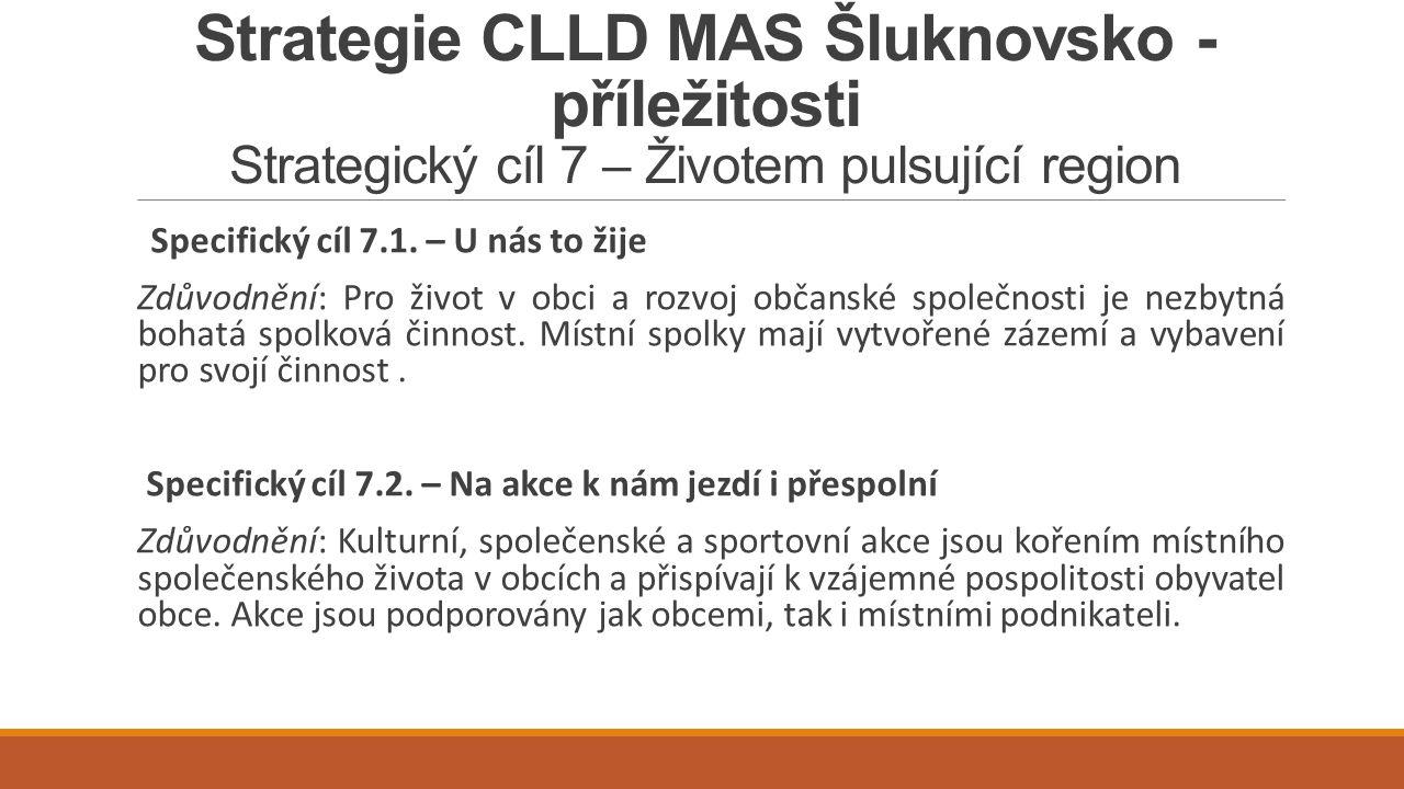 Strategie CLLD MAS Šluknovsko - příležitosti Strategický cíl 7 – Životem pulsující region