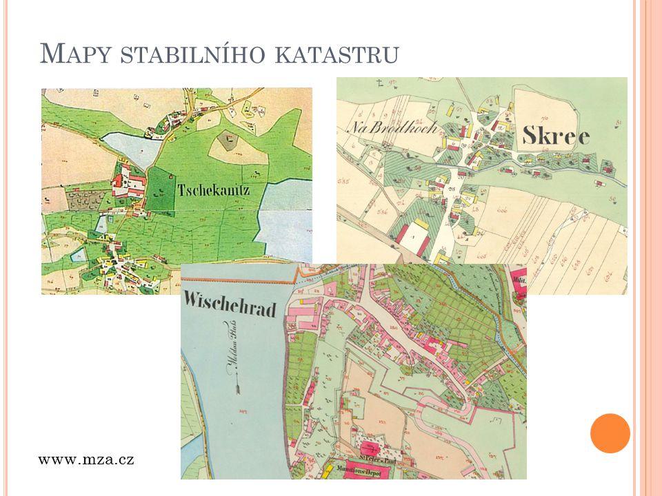 Mapy stabilního katastru