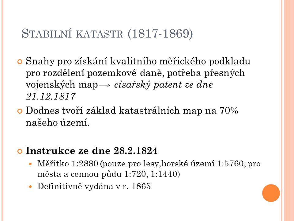 Stabilní katastr (1817-1869)