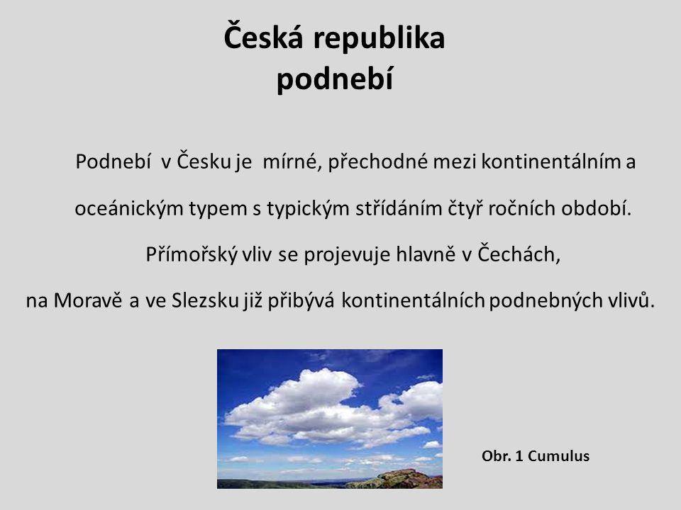 Česká republika podnebí