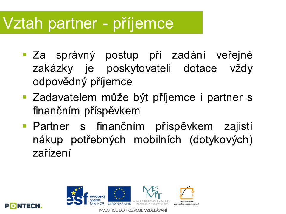 Vztah partner - příjemce