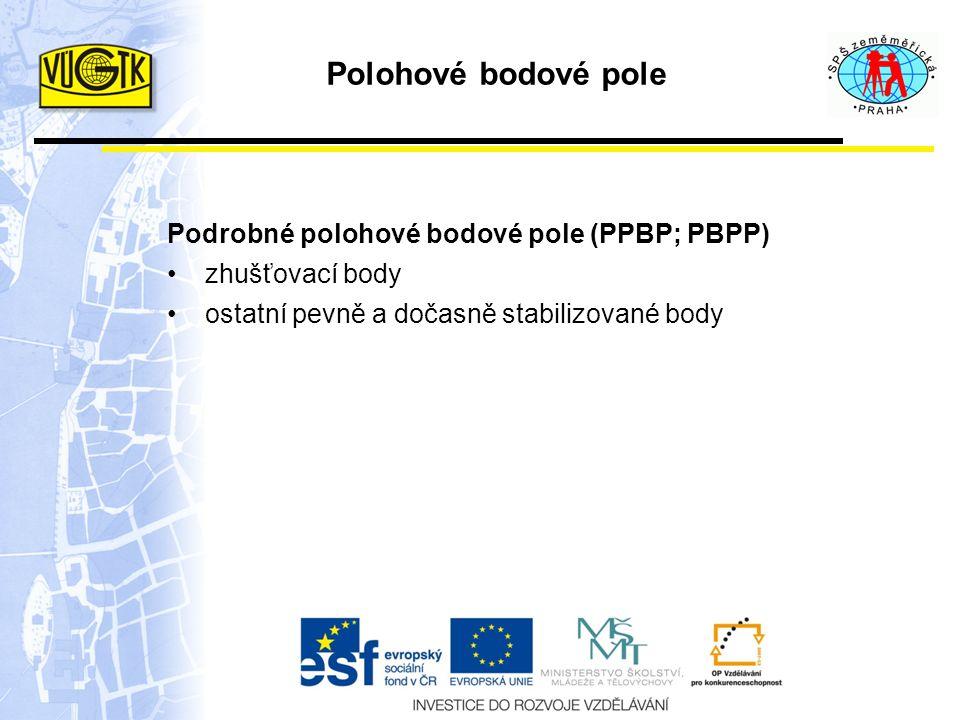 Polohové bodové pole Podrobné polohové bodové pole (PPBP; PBPP)