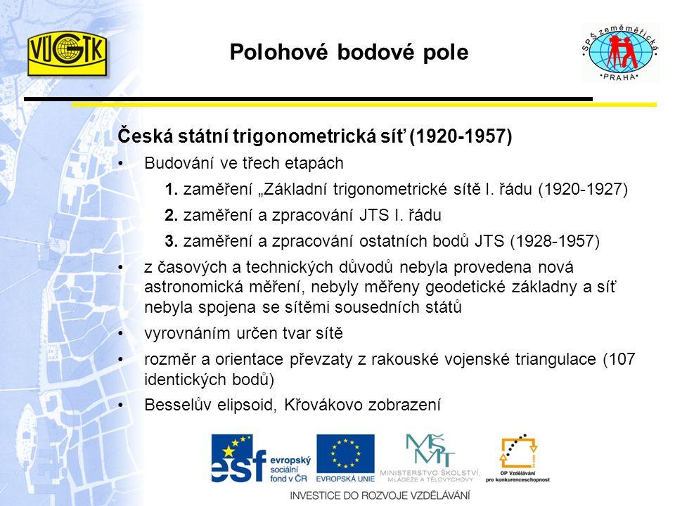 Polohové bodové pole Česká státní trigonometrická síť (1920-1957)