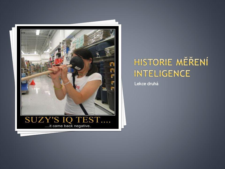 Historie měření inteligence
