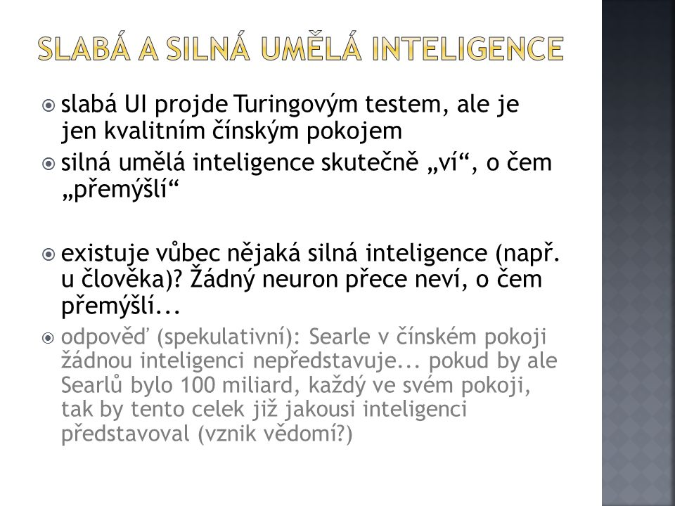 Slabá a silná umělá inteligence
