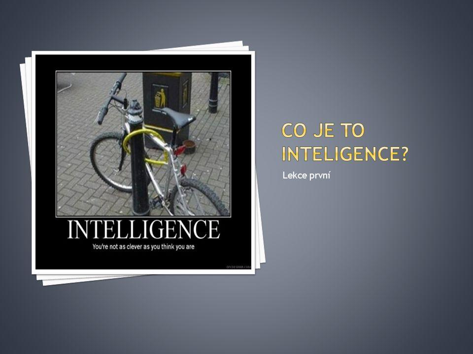Co je to inteligence Lekce první
