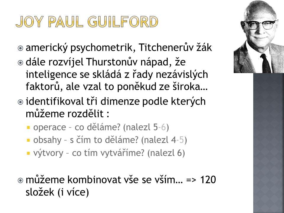 Joy Paul Guilford americký psychometrik, Titchenerův žák